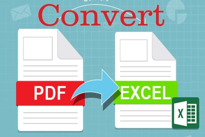 I can convert pdf to excel 1 - kwork.com