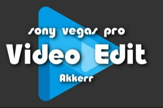 Video Edit Sony Vegas Pro 1 - kwork.com