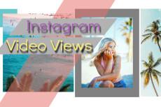 Instagram Video Views - 10000 14 - kwork.com
