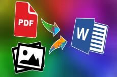 I will transform your PDF to word 3 - kwork.com